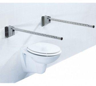 Felhajtható króm-acél fali wc-fürdőszoba kapaszkodó 85 cm
