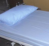 Vízhatlan ágyvédő PVC fehér lepedő 170x130 cm
