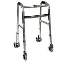 Gurulós, összecsukható járókeret 4 kerékkel