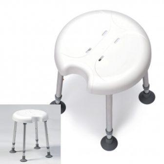 Állítható magasságú tusoló ülőke DELPHI PLUS higieniai nyílással 180 kg-ig