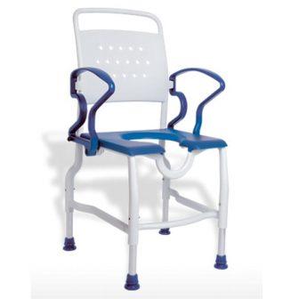 Rebotec Tusolószék /  fürdető szék felhajtható karfával, stabil, 130 kg-ig terhelhető
