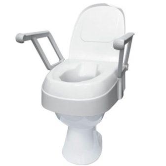 WC magasító állítható magasságú, fedővel, karfával 120 kg-ig TSE120