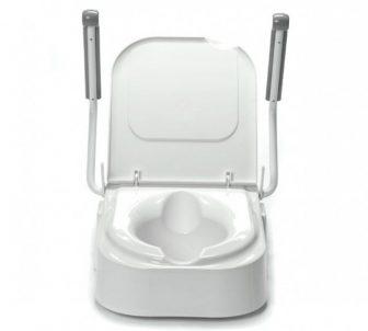 TSE150 WC magasító felhajtható karfával, állítható magassággal 150 kg-ig