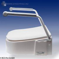 WC magasító felhajtható karfával, állítható magassággal (65-100-130 mm)