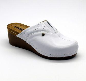 Leon Comfortstep 1002 fehér női bőr papucs 36-41