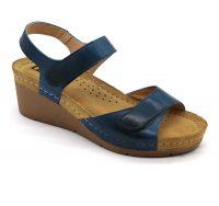 Leon Comfortstep 1041 kék női bőr szandál 36-41