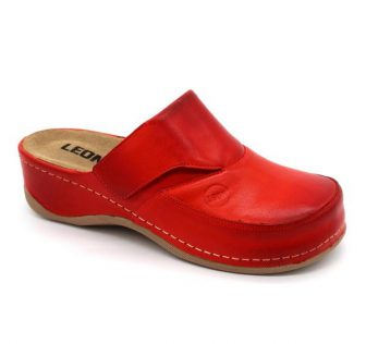 Leon Comfortstep 2019 piros női bőr papucs 36-41