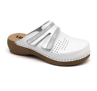Leon Comfortstep 3200 fehér női bőr papucs 36-41