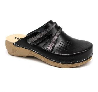Leon Comfortstep 3200 fekete női bőr papucs 36-41