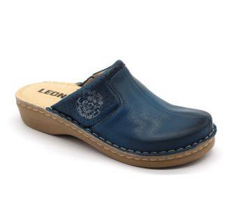 Leon Comfortstep 360 kék női bőr klumpa 36-42