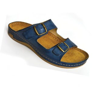 Leon Comfortstep 703 kék férfi bőr papucs 41-46