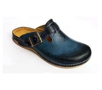 Leon Comfortstep 707 kék férfi bőr papucs 41-46
