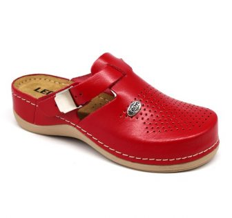 Leon Comfortstep 900 piros női bőr papucs 36-42