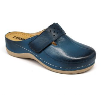Leon Comfortstep 902 kék női bőr klumpa 36-41