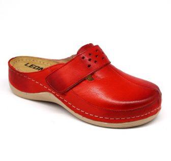 Leon Comfortstep 902 piros női bőr klumpa 36-41