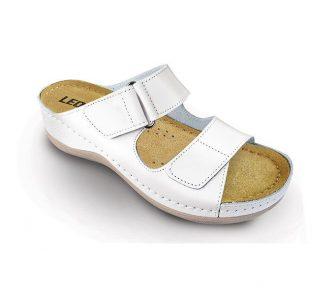 Leon Comfortstep 905 fehér női bőr papucs 36-41