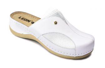 Leon Comfortstep 912 fehér női bőr papucs 36-41