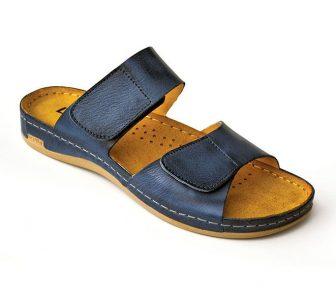 Leon Comfortstep 952 kék női bőr papucs 36-41