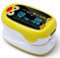 GMed Gyermek és csecsemő pulzoximéter OLED kijelzővel, tölthető litium akumulátorral