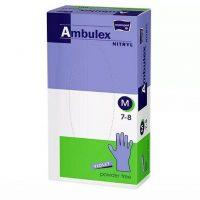 AMBULEX nitril vizsgáló kesztyű lila, púdermentes 100 db L méretben gumikesztyű