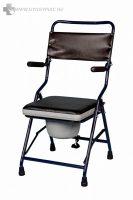 4322 Összecsukható, hordozható Szobai WC felhajtható karfával -kárpitozott, székként is használható