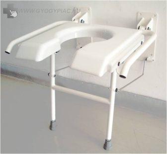 B 4311 Felhajtható ZUHANY/ fürdetőülés, falra szerelhető zuhany ülés