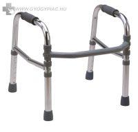 Rehab 4263 II Alumínium összecsukható, állítható magasságú járókeret 100 kg-ig 2.5 cm-enként állítható