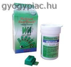 Wellmed Glucose vércukor tesztcsík 25 db GU, GC és GCU, gchb készülékhez