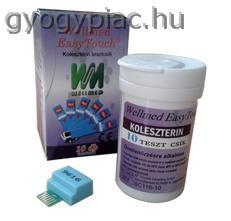 Wellmed cholesterol Koleszterin Tesztcsík GC és GCU készülékhez 10 db