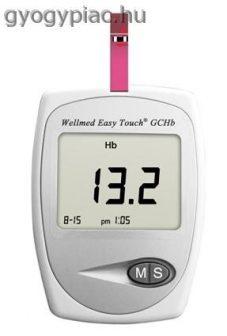 Wellmed EasyTouch GCHb Hemoglobin-, vércukor- és koleszterinmérő készülék