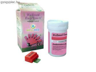 Wellmed Hemoglobin Tesztcsík  25 db EasyTouch GcHb készülékhez