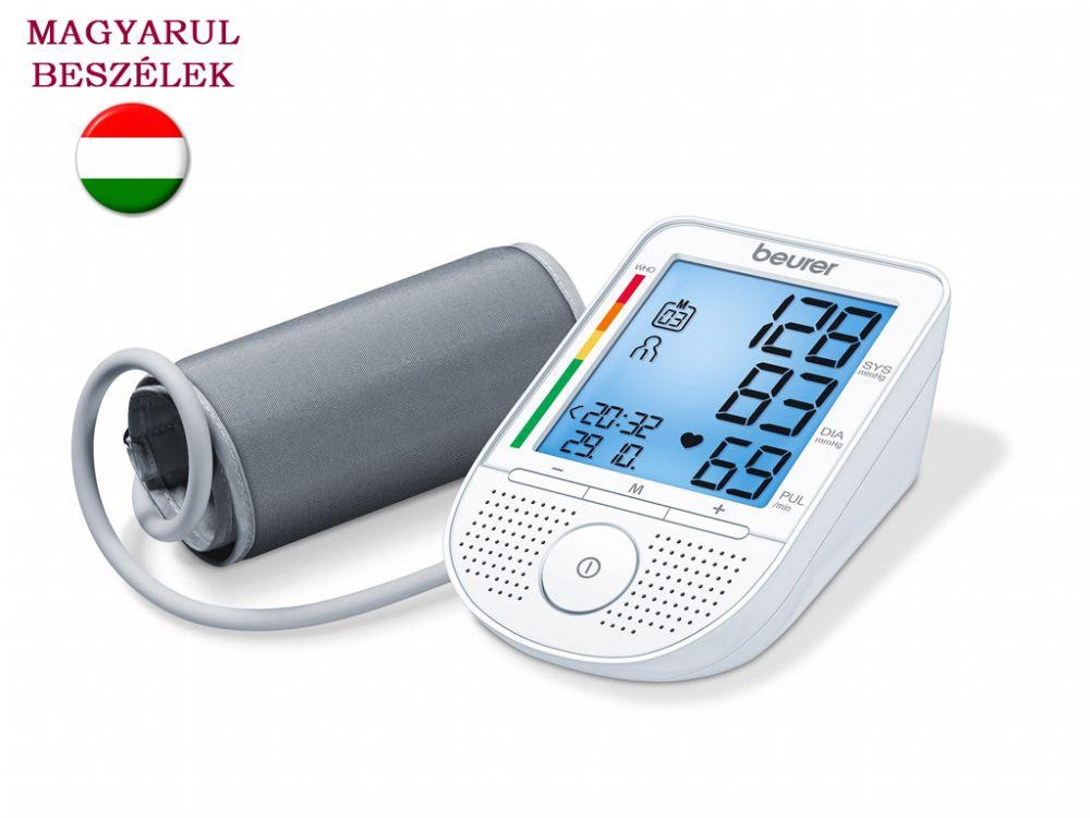 Magyarul beszélő felkaros vérnyomásmérő Beurer BM 49